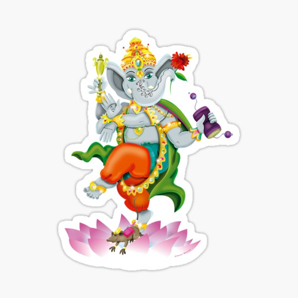 Ganesha / Shiavs World Sticker