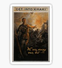 """GET INTO KHAKI"" We are doing our bit - Sticker"