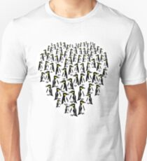Penguins Clustered into a Heart Unisex T-Shirt