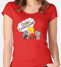 Code! Code! Code! Women's Fitted Scoop T-Shirt