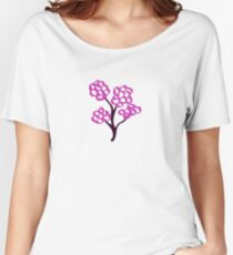 Elegant Flower Women's Relaxed Fit T-Shirt