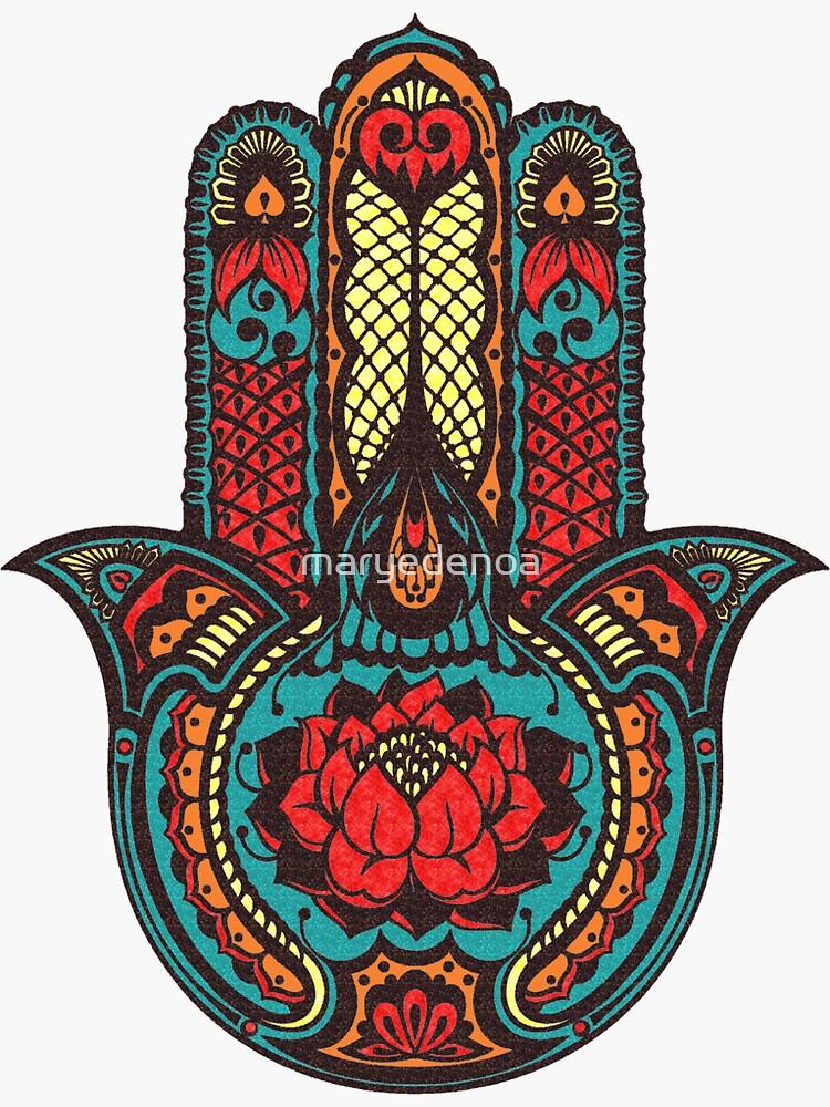 Lotus Hamsa by maryedenoa