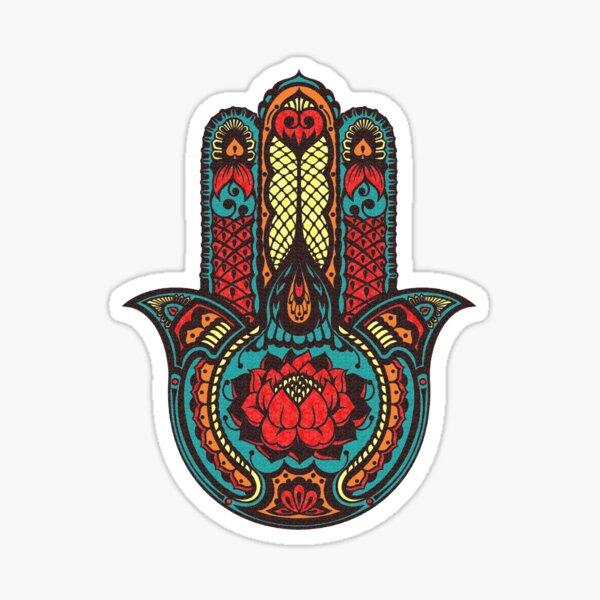 Lotus Hamsa Sticker