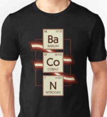 Bacon Funny Chemistry Periodic Table Of Elements Graphic Novelty Design T-Shirt