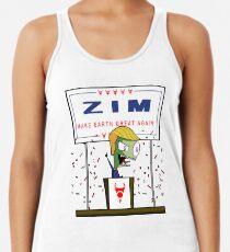 Zim - Mach die Erde wieder großartig! Racerback Tank Top