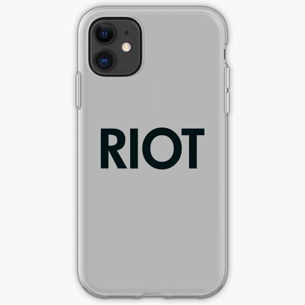 Riot (black) iPhone Soft Case