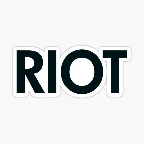 Riot (black) Sticker