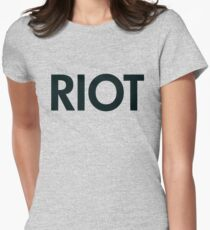 Riot (black) Women's Fitted T-Shirt