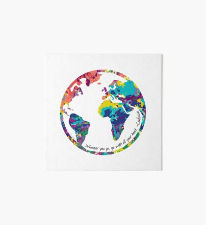 Go With All Your Heart - World Art Board
