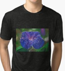 Deep Purple Morning Glory With Morning Dew Tri-blend T-Shirt