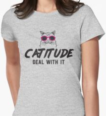 Catitude. Deal with it T-Shirt