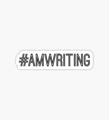 #AMWRITING black text Sticker