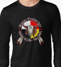 Water Protector Water Is Life - No DAPL Long Sleeve T-Shirt