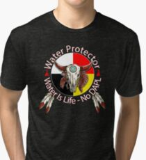 Water Protector Water Is Life - No DAPL Tri-blend T-Shirt
