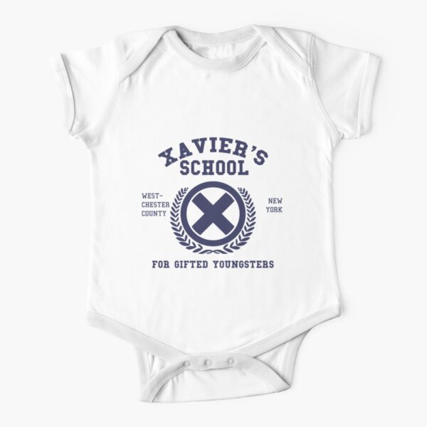 Xavier's School for Gifted Youngsters Short Sleeve Baby One-Piece