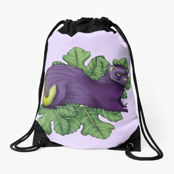 Fig Ferret Drawstring Bag