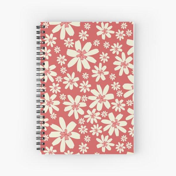 Red Floral Delight Spiral Notebook