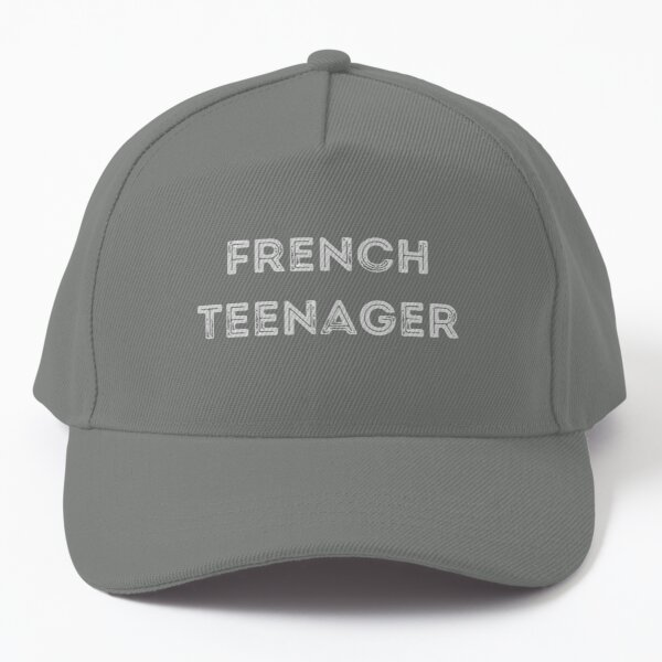 French Teenager Simple Text Design Baseball Cap