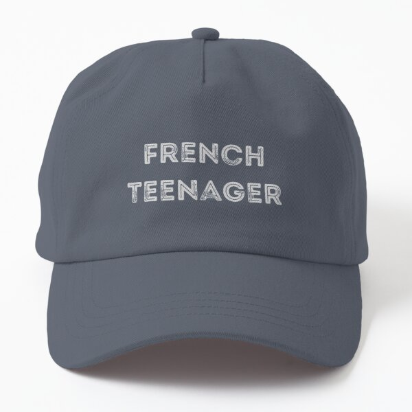 French Teenager Simple Text Design Dad Hat