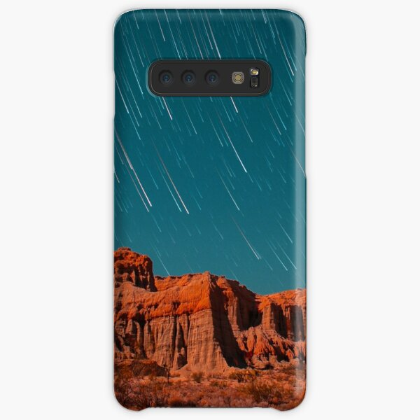 Star Trails Comets Streak Over Red Rock Canyon Samsung Galaxy Snap Case