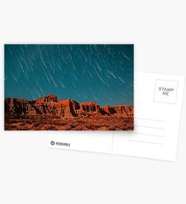 Star Trails Comets Streak Over Red Rock Canyon Postcards
