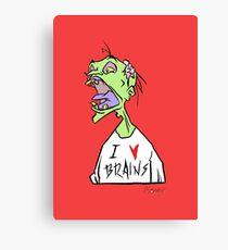 Brains! Canvas Print