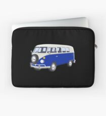 Volkswagen Van, VW Bus, Navy Blue, Camper, Split screen, 1966 Volkswagen, Kombi (North America) Laptop Sleeve