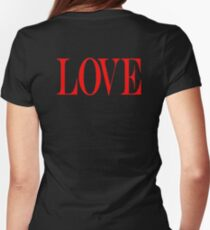 LOVE, In Love, Loving, Love Story, Romance, Simply Type, Partner Womens Fitted T-Shirt