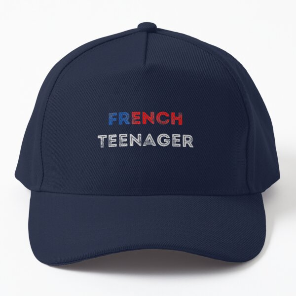French Teenager Colored Simple Text Design Baseball Cap