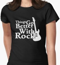 Things go better with Rock Women's Fitted T-Shirt
