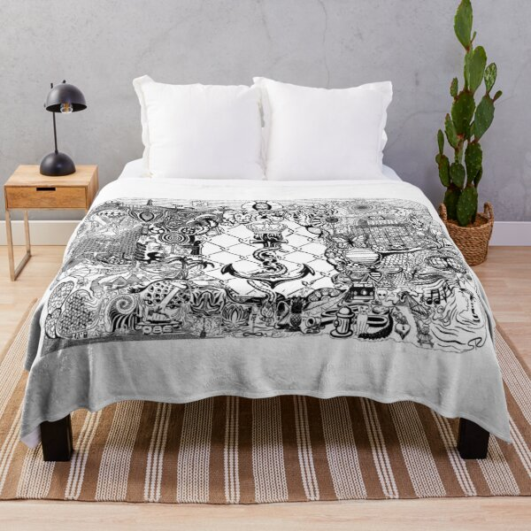Divine Doodle Synchronicity Throw Blanket