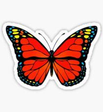 Red butterfly Sticker