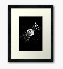 Moon Explosion Framed Print
