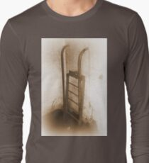 Battery Mishler ladder going nowhere, sepia Long Sleeve T-Shirt