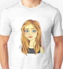 Smiling Blue Eyed Girl  T-Shirt
