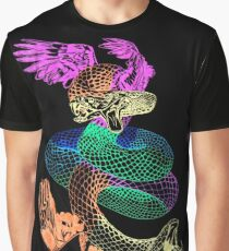 Feathered Serpent Graphic T-Shirt