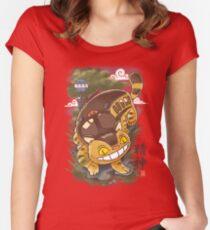 Traditional Nekobasu  Women's Fitted Scoop T-Shirt