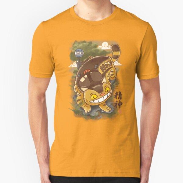 Traditional Nekobasu  Slim Fit T-Shirt