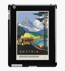 Vintage Travel Poster, Austria iPad Case/Skin