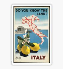 Vintage Travel Poster, Italy Sticker