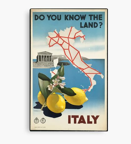 Vintage Travel Poster, Italy Canvas Print