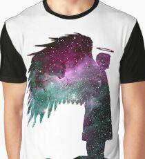 Castiel Sihouette: Space Graphic T-Shirt