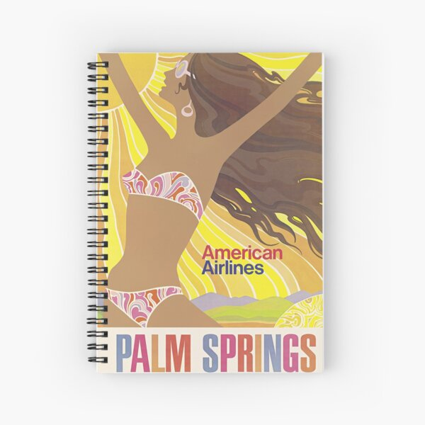Palm Springs - American Airlines - Poster Spiral Notebook