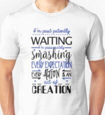 Hamilton Musical Quote. I'm past..Blue. Unisex T-Shirt