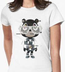 Kanye west graduation bear- Distorted Women's Fitted T-Shirt