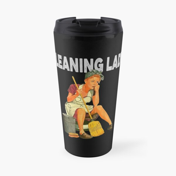 Womens 1950s Vintage Retro Cleaning Lady, Housekeepers Maid Service  Travel Mug
