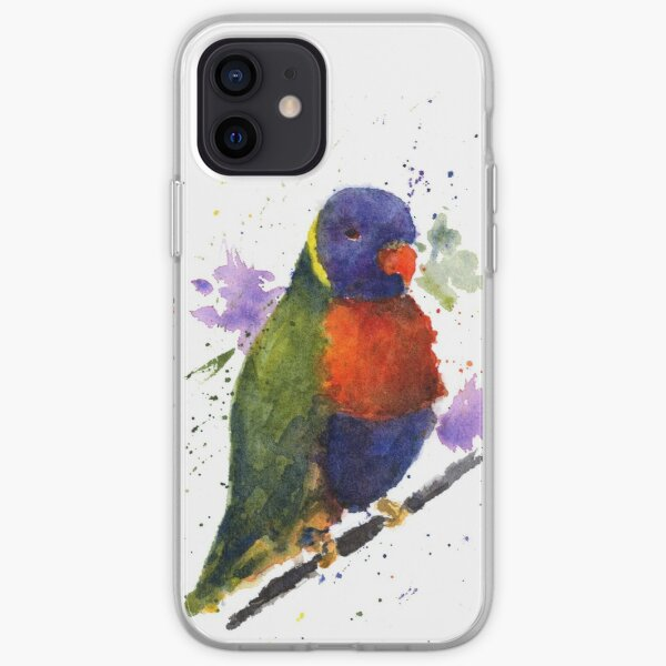 Watercolor Lorikeet at the Pet Store iPhone Soft Case