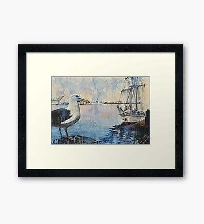 The Harbor Framed Print