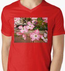 Pink Dogwood Blossoms - Fitler Square - Philadelphia PA Mens V-Neck T-Shirt