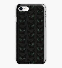 black cat pattern iPhone Case/Skin